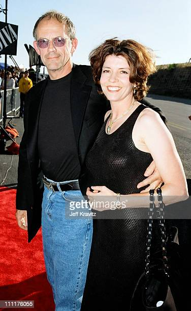 Christopher Lloyd and wife Jane Walker Wood during 1998 MTV Movie Awards in Los Angeles California United States