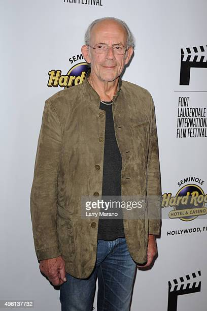 Christopher Lloyd attends the Fort Lauderdale International Film Festival Opening Night at Seminole Hard Rock Hotel on November 6 2015 in Hollywood...