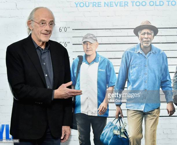 Christopher Lloyd attends the Going In Style New York Premiere at SVA Theatre on March 30 2017 in New York City