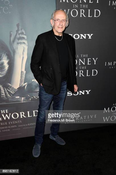 Christopher Lloyd attends the premiere of Sony Pictures Entertainment's 'All The Money In The World' at Samuel Goldwyn Theater on December 18 2017 in...