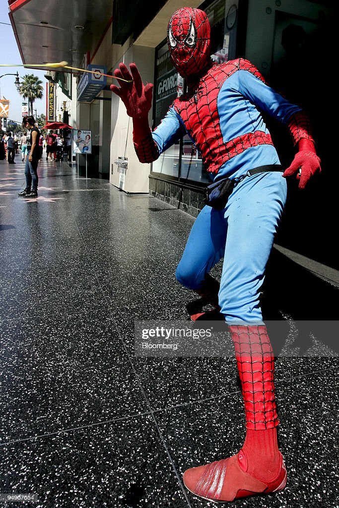 Christopher Loomis wears a Spider-Man costume on the Hollywo & Christopher Loomis wears a Spider-Man costume on the Hollywo ...