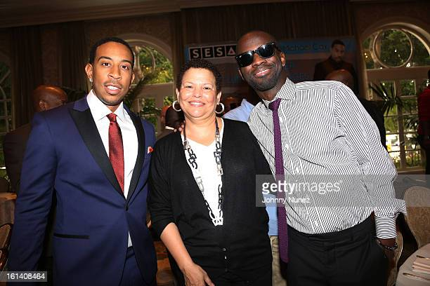 Christopher 'Ludacris' Bridges Debra Lee and BryanMichael Cox attend The 9th Annual BryanMichael Cox/SESAC Brunch Honoring Ludacris at Four Seasons...