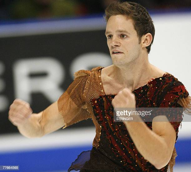 Christopher Mabee of Canada skates in the Men's Short Program at the HomeSense Skate Canada International 02 November 2007 in Quebec City Canada AFP...