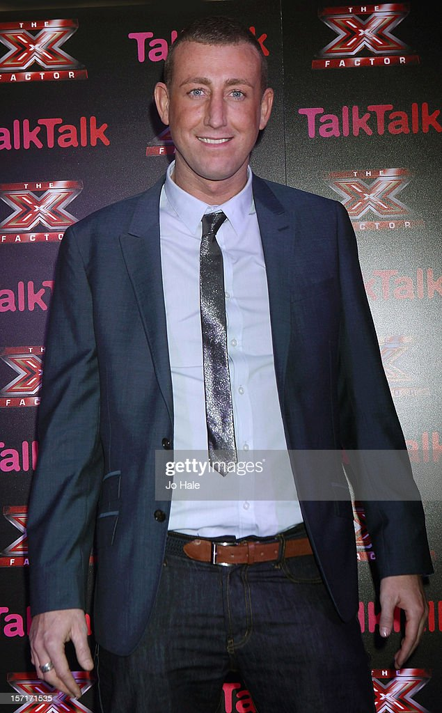 Christopher Maloney attends a photocall at the Talk Talk X Factor semi finalists gig on November 29, 2012 in London, England.