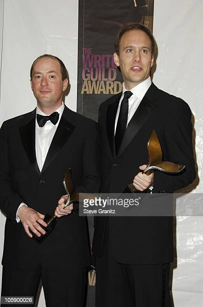 Christopher Markus and Stephen McFeely winners of Outstanding Long Form Adapted for The Life and Death of Peter Sellers