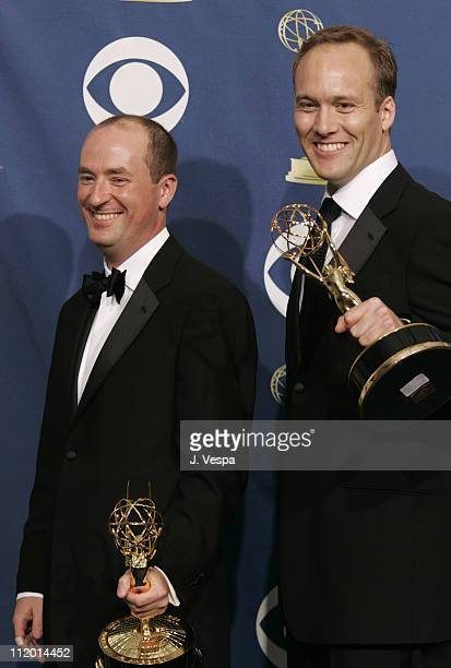 Christopher Markus and Stephen McFeely winners of Outstanding Writing for a Miniseries Movie or Dramatic Special for The Life and Death of Peter...