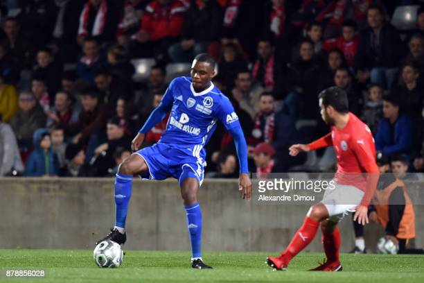Christopher Martins Pereira of Bourg en Bresse during the Ligue 2 match between Nimes and Bourg en Bresse at Stade des Costieres on November 24 2017...