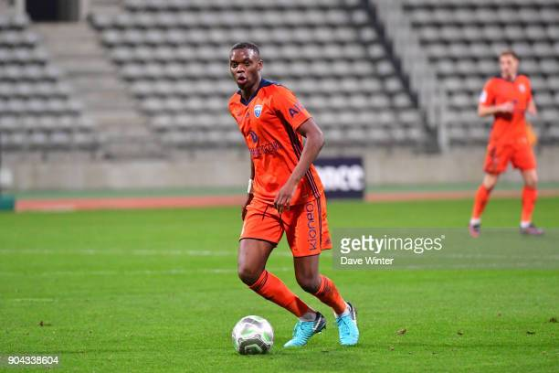 Christopher Martins Pereira of FBBP 01 during the Ligue 2 match between Paris FC and Bourg en Bresse at Stade Charlety on January 12 2018 in Paris...