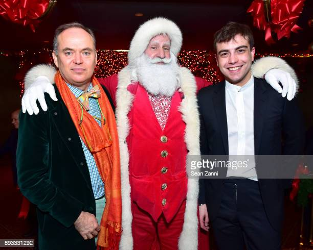 Christopher Mason Santa Claus and Andreas Kostopoluos attend A Christmas Cheer Holiday Party 2017 Hosted by George Farias and Anne and Jay McInerney...