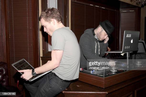 Christopher Masterson and Adam 12 attend the Beats Rhymes And Life Grammy Party Hosted By Om Films And Michael Rapaport at Crown Bar on February 11...