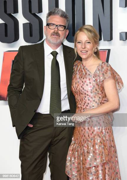 Christopher McQuarrie and Heather McQuarrie attend the UK Premiere of 'Mission Impossible Fallout' at BFI IMAX on July 13 2018 in London England