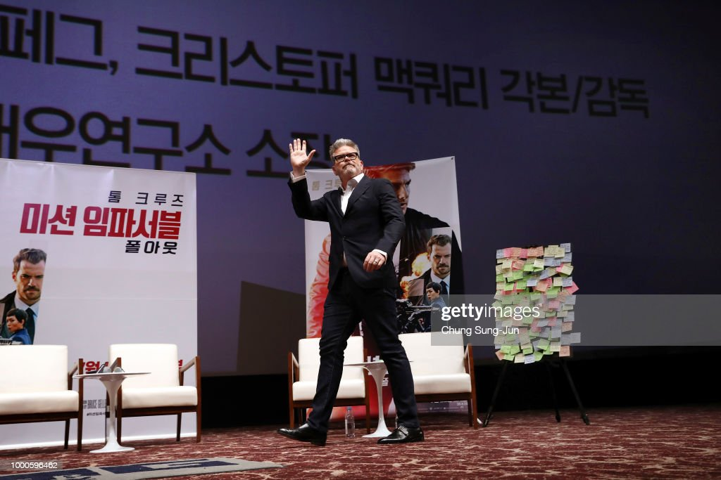 Christopher McQuarrie makes a special theater visit at the 'Mission: Impossible - Fallout' Seoul Screening at Lotte Cinema on July 17, 2018 in Seoul, South Korea .