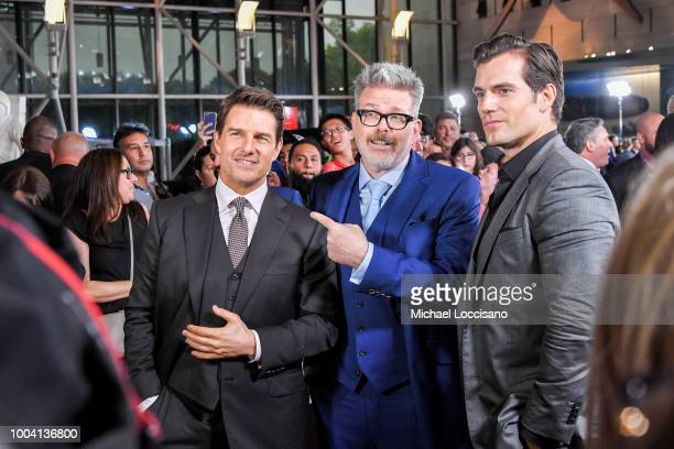 Christopher McQuarrie Tom Cruise and Henry Cavill attend the 'Mission Impossible Fallout' US Premiere at Lockheed Martin IMAX Theater at the...