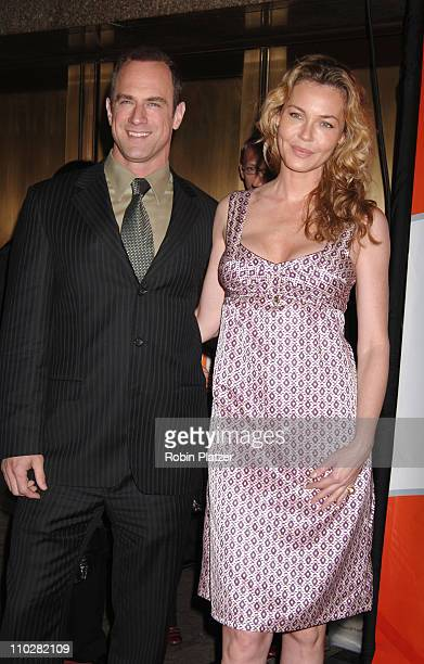 Christopher Meloni and Connie Nielsen during NBC 2006-2007 Primetime Upfront at Radio City Music Hall in New York City, New York, United States.