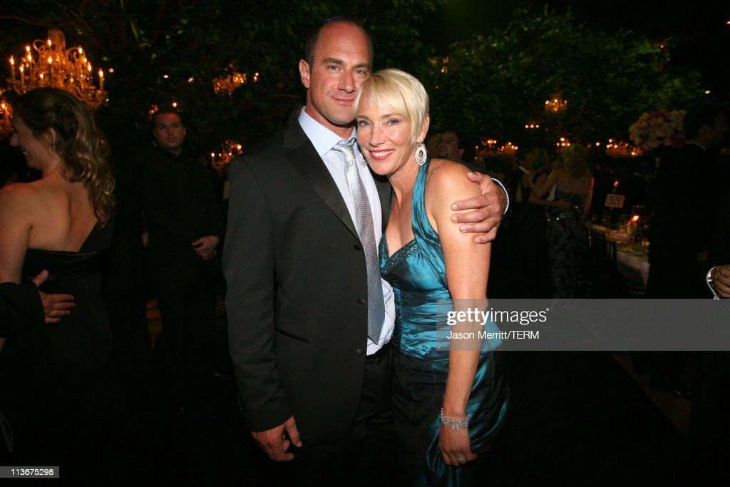 Christopher Meloni and guest during 58th Annual Primetime Emmy Awards - Governors Ball at The Shrine Auditorium in Los Angeles, California, United States.