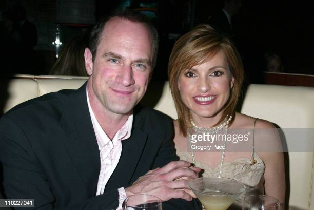 Christopher Meloni and Mariska Hargitay during Conde Nast Traveler Hot List Party for 2005 at Megu in New York City New York United States