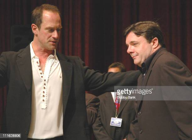Christopher Meloni and Nathan Lane during Friars Club Roast Of Jerry Lewis - June 9, 2006 at New York Hilton in New York, New York, United States.