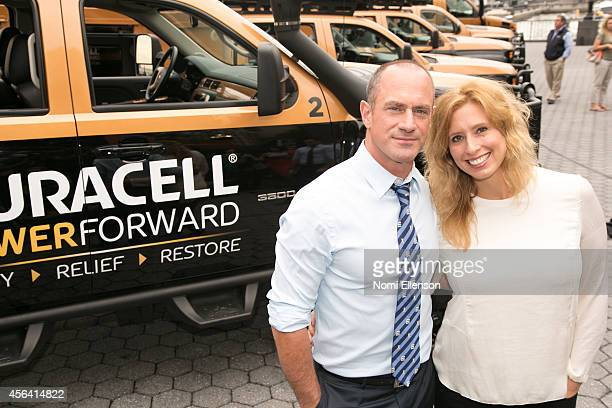 Christopher Meloni and Stephanie Abrams join Duracell on the National Day of Action in announcing disaster relief expansion programam in Battery Park...