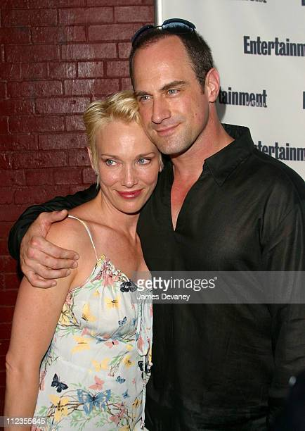 Christopher Meloni and wife during Entertainment Weekly's 1st Annual IT List Party at Milk Studios in New York City New York United States