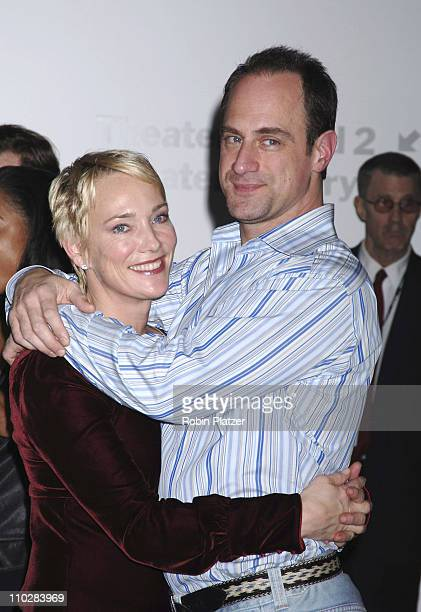 "Christopher Meloni and wife Sherman during ""Thank You For Smoking"" New York Premiere - Inside Arrivals - March 12, 2006 at Museum of Modern Art in..."