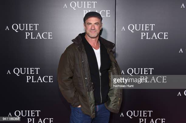 Christopher Meloni attends the Paramount Pictures New York Premiere of 'A Quiet Place' at AMC Lincoln Square theater onApril 2 2018 in New York New...