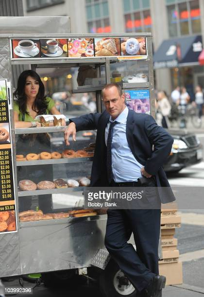 Christopher Meloni filming on location for Law Order SVU on the streets of Manhattan on September 10 2010 in New York City