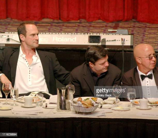 Christopher Meloni, Nathan Lane and Paul Shaffer during Friars Club Roast Of Jerry Lewis - June 9, 2006 at New York Hilton in New York, New York,...