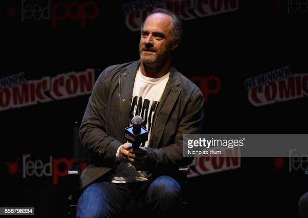 Christopher Meloni speaks at The Happy Panel during 2017 New York Comic Con Day 3 on October 7 2017 in New York City