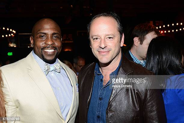 Christopher Michael Holley and Gil Bellows attend AE's 'Bates Motel' and 'Those Who Kill' Premiere Party at Warwick on February 26 2014 in Hollywood...