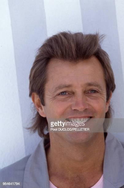 Christopher Mitchum, acteur, le 10 mai 1987 à Cannes,, France.