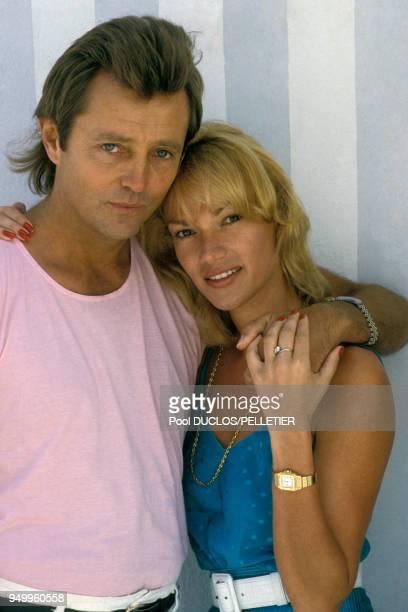 Christopher Mitchum et Brigitte Lahaie au Festival de Cannes le 10 mai 1987 France