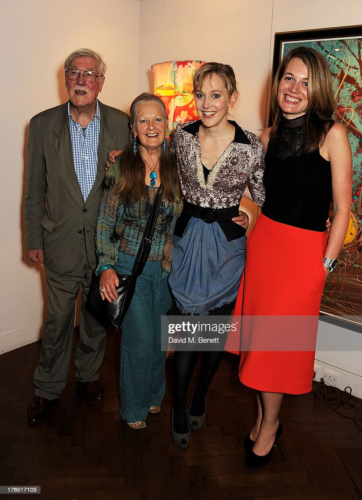 Christopher Morahan, Anna Carteret, Hattie Morahan and director Carrie Cracknell attend an after party following the press night performance of 'A Doll's House' at The Hospital Club on August 14, 2013 in London, England.