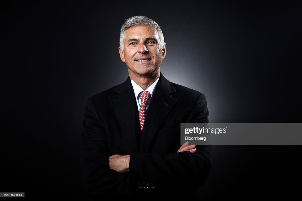 Christopher Nassetta, chief executive officer of Hilton Worldwide Holdings Inc., poses for a photograph following a Bloomberg Television interview at the World Economic Forum (WEF) in Davos, Switzerland, on Wednesday, Jan. 18, 2017. World leaders, influential executives, bankers and policy makers attend the 47th annual meeting of the World Economic Forum in Davos from Jan. 17 - 20. Photographer: Simon Dawson/Bloomberg via Getty Images