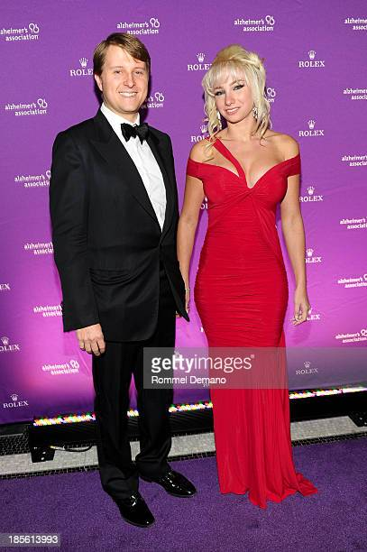 Christopher Nixon Cox and Andrea Catsimatidis attend 2013 Alzheimer's Association Rita Hayworth 30th Anniversary gala at The Waldorf Astoria on...