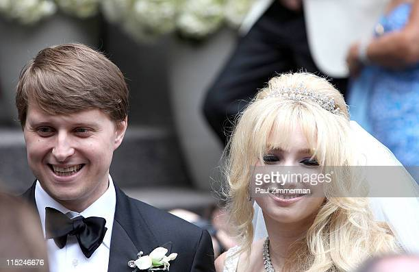 Christopher Nixon Cox and Andrea Catsimatidis attend their wedding at the Greek Orthodox Cathedral Of The Holy Trinity on June 4 2011 in New York City