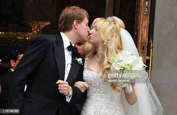 Christopher Nixon Cox and Andrea Catsimatidis leave the Greek Orthodox Cathedral Of The Holy Trinity after being married on June 4 2011 in New York...