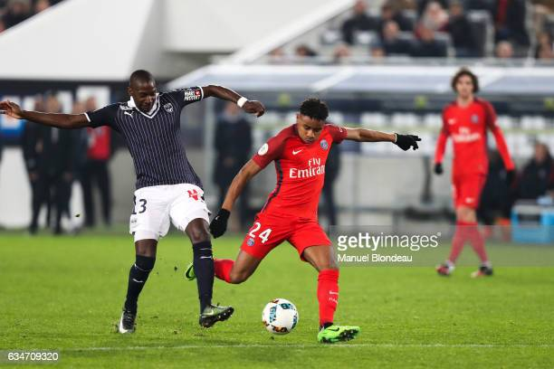 Christopher Nkunku of Paris during the Ligue 1 match between Girondins Bordeaux and Paris Saint Germain PSG at Nouveau Stade de Bordeaux on February...