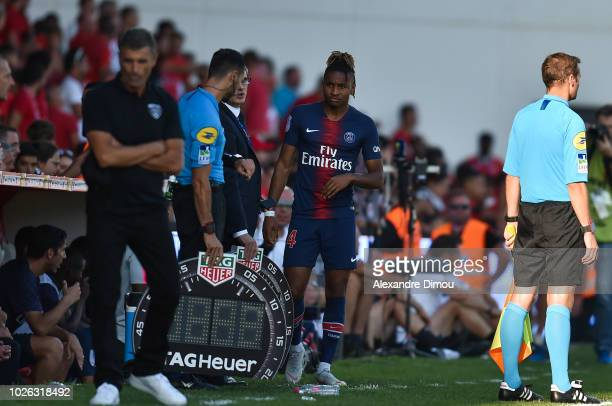 Christopher Nkunku of Paris during the Ligue 1 match between Nimes and Paris Saint Germain on September 1 2018 in Nimes France