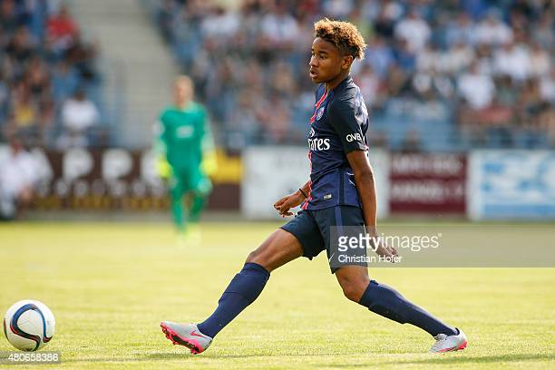 Christopher Nkunku of Paris Saint-Germain controls the ball during the Friendly Match between Wiener Sportklub and Paris Saint-Germain at Sportclub...