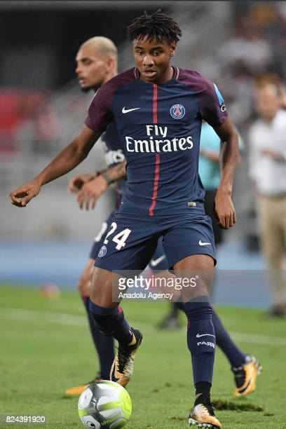 Christopher Nkunku of Paris SaintGermain in action during the French Trophy of Champions football match between Monaco and Paris SaintGermain at the...