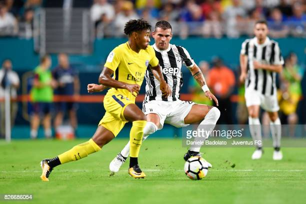 Christopher Nkunku of PSG and Stefano Sturaro of Juventus in action during the International Champions Cup 2017 match between Paris Saint Germain and...