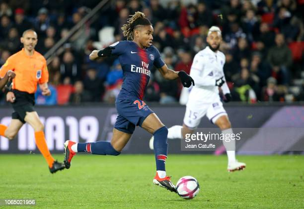 Christopher Nkunku of PSG during the french Ligue 1 match between Paris SaintGermain and Toulouse FC at Parc des Princes stadium on November 24 2018...