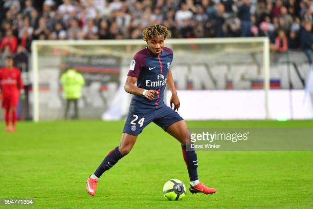 Christopher Nkunku of PSG during the Ligue 1 match between Amiens SC and Paris Saint Germain at Stade de la Licorne on May 4, 2018 in Amiens, .