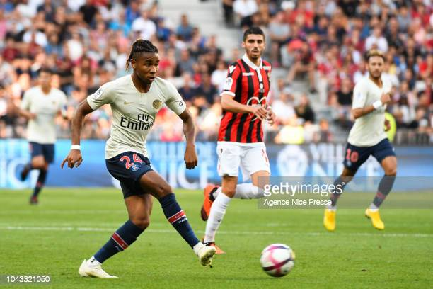 Christopher Nkunku of PSG during the Ligue 1 match between Nice and Paris Saint Germain at Allianz Riviera Stadium on September 29 2018 in Nice France