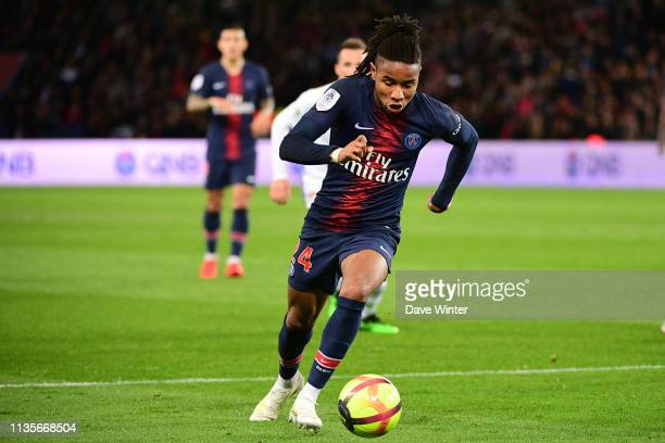 Christopher Nkunku of PSG during the Ligue 1 match between Paris Saint Germain and Strasbourg at Parc des Princes on April 7 2019 in Paris France
