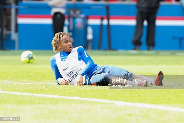 Christopher Nkunku of PSG during the training session of Paris Saint Germain at Parc des Princes on May 16, 2018 in Paris, France.
