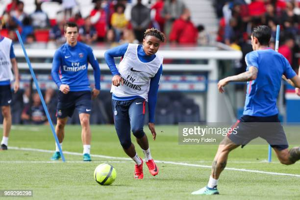 Christopher Nkunku of PSG during the training session of Paris Saint Germain at Parc des Princes on May 16 2018 in Paris France