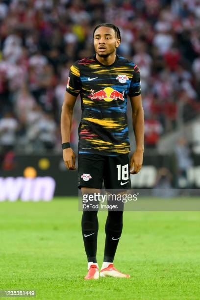 Christopher Nkunku of RB Leipzig looks on during the Bundesliga match between 1. FC Koeln and RB Leipzig at RheinEnergieStadion on September 18, 2021...