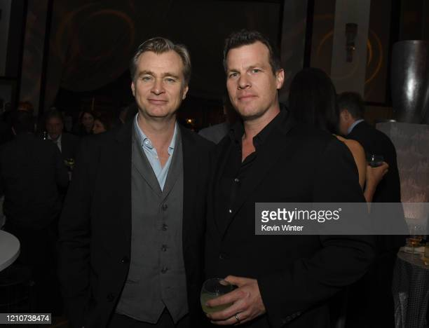 """Christopher Nolan and Jonathan Nolan pose at the after party for the premiere of HBO's """"Westworld"""" Season 3 at the Dolby Ballroom on March 05, 2020..."""