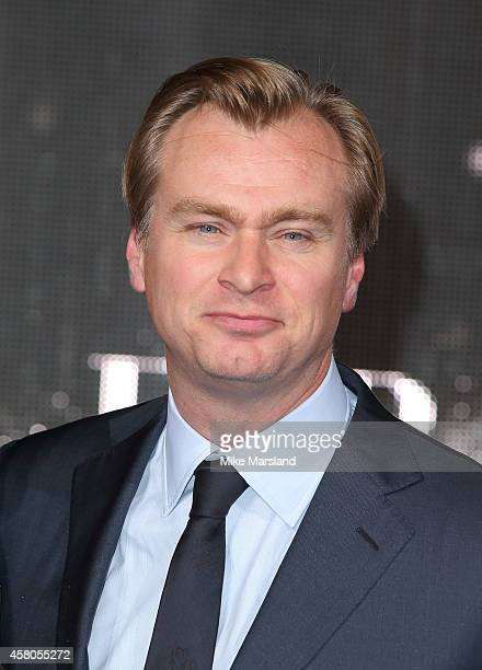 Christopher Nolan attends the European premiere of 'Interstellar' at Odeon Leicester Square on October 29 2014 in London England